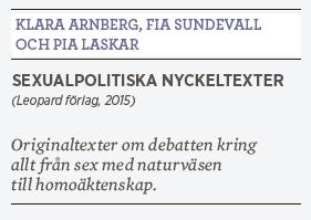 Hanna Lager recension Klara Arnberg, Fia Sundevall och Pia Laskar • Sexualpolitiska nyckeltexter • Leopard förlag 2015 Ebba Witt-Brattström  grupp 8 feminism sex pornografi Neo nr 2 2015