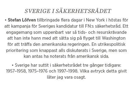 Fredrik Johansson Världen kommer att häpna Kristina Persson Stefan Löfven FN Thomas Hammarberg  global samverkan medmänsklighet utrikespolitik Nato säkerhetsrådet Neo nr 2 2015