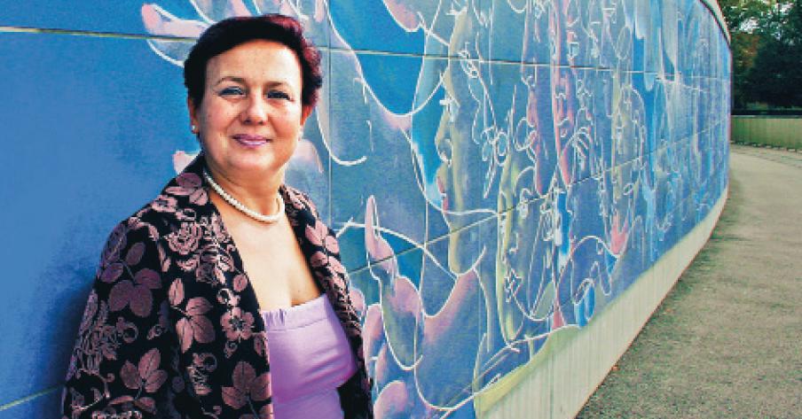 Kristyana Valcheva utanför FN-byggnaden i Genève, september 2010.