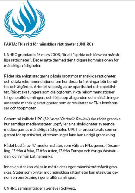 Paulina Neuding Diktaturernas paradis Libyen, Irak, Kina FN UN Watch Jan Eliasson Kofi Annan Hillel Neuer Ashraf El Hagoug Neo nr 5 2010 bakgrund
