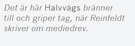 Mats Johansson recension Fredrik Reinfeldt Halvvägs Albert Bonniers förlag Gun Hellsvik Kofi Annan Göran Persson Barack Obama Vladimir Putin Neo nr 4 2015 citat