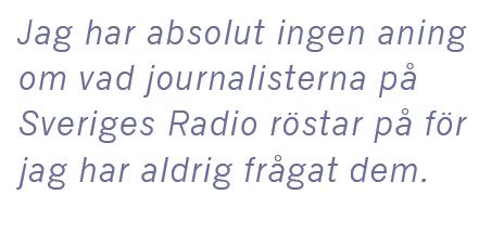 Cilla Benkö intervju Andreas Ericson Sveriges radio vänstervridning Granskningsnämnden husblatte ACAB Kakan Hermansson Kent Asp Neo nr 4 2015 citat2