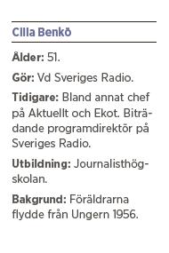 Cilla Benkö intervju Andreas Ericson Sveriges radio vänstervridning Granskningsnämnden husblatte ACAB Kakan Hermansson Kent Asp Neo nr 4 2015 pres