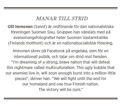Sylvia Bjon Nationer i krig Sannfinländarna rasism Olli Immonen Timo Soini Neo nr 4 2015